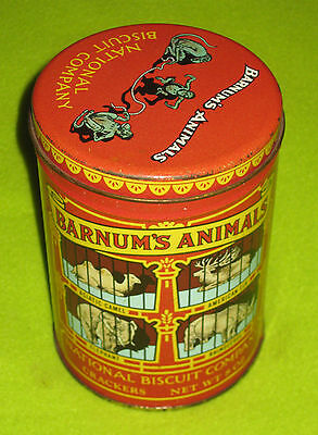 Barnum's Animals National Biscuit Company Crackers Replica 1914 Round Canister