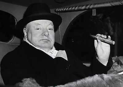 Art Print POSTER Winston Churchill in Evening Dress with Cigar