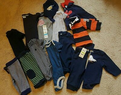 Huge Lot of 16 Baby Boy Clothes Outfits 3-6 6 Months Carters Gymboree Gap EUC