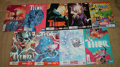 Thor 1-8 NM + Annual complete run set lot 2014 2015 Jane Foster Lady Jason Aaron