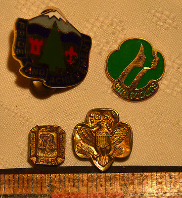 "Vintage Girl scouts pins including one 1948 ""times fun frolic"""
