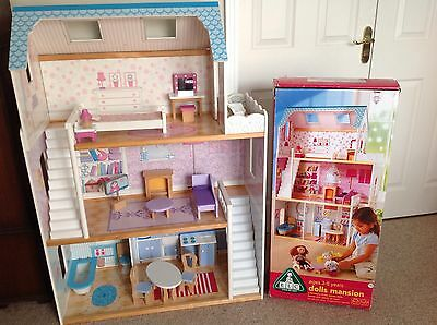 ELC Early Learning Centre 3 Storey Dolls Mansion House with Furniture, VGC