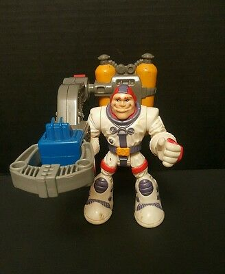 Fisher Price Rescue Heroes Gil Gripper White Suit Rescue Grabber Claw Tanks 1998
