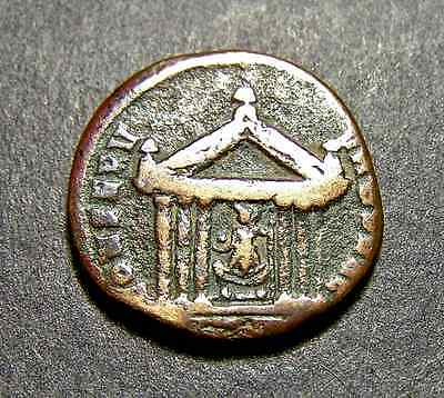 MAXENTIUS, Defender of the City-Rome, Roma in Her Temple, Imperial Roman Coin