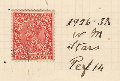 INDIA 2a George V FINE USED On Old Album Page