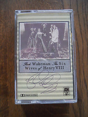 Sign By Rick Wakeman - The Six Wives Of Henry Viii Cassette Tape 1973