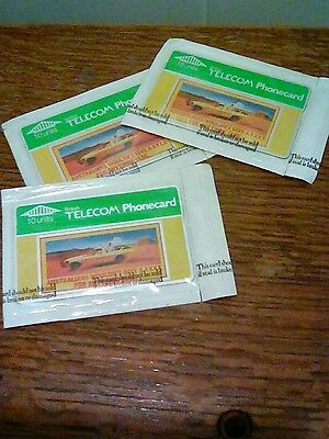 Lot of Three unused four x phone cards