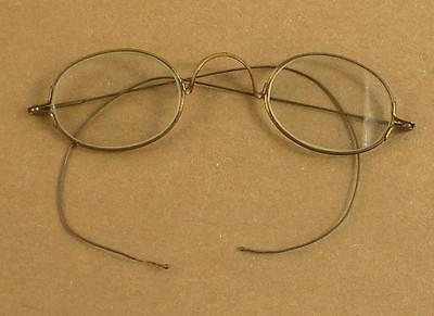 """Antique Wire Rim Eye Glasses Small Child Size 4"""" Hinge to Hinge"""