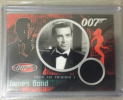James Bond 40th Anniversary SEAN CONNERY  Costume/Relic Card CC1