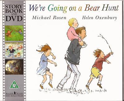 WE'RE GOING ON A BEAR HUNT Children's Picture Story Book & DVD Michael Rosen