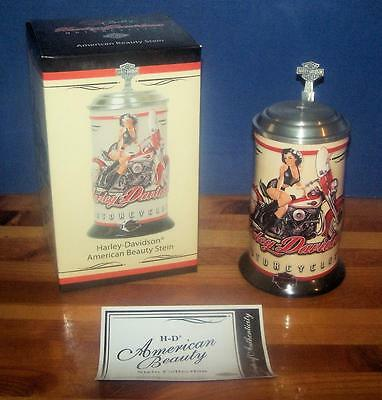 NEW Harley Davidson Brunette American Beauty Betty Pin-Up Stein!  1st in Series!