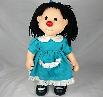 """Rare 14"""" Vinyl Face PBS Big Comfy Couch Molly Doll Playmates 1996"""