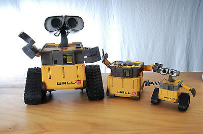 Lot of (3) Disney Pixar THINKWAY TOYS WALL-E * RARE POP-UP + INTER ACTIVE + MINI