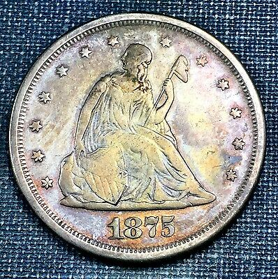 1875-S Twenty Cent Piece VF/XF