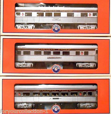 Lionel Canadian Pacific 3 Car Passenger Set Lot of 3 #6-30181 7 DAY BLOWOUT SALE
