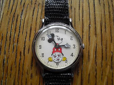 Vintage Mickey Mouse  Watch Neat Piece! *As Is*