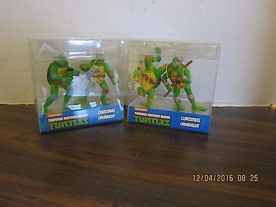 TMNT Teenage Mutant Ninja Turtles Plastic Ornaments 2016 New Xmas All 4 Turtles