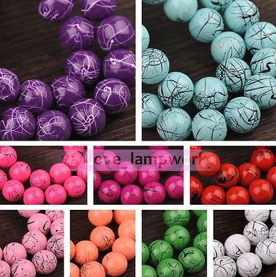 Wholesale Lot 6mm 8mm 10mm Round Spacer Glass Loose Beads DIY Jewelry Findings