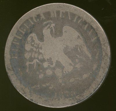 Mexico 50 Centavos coin of 1876 Well-Worn (Junk Silver?)