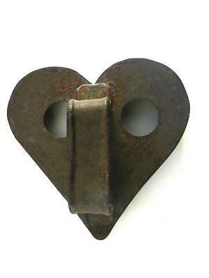 VINTAGE SOLDERED 19c HEART COOKIE CUTTER HANDLE VENT HOLES