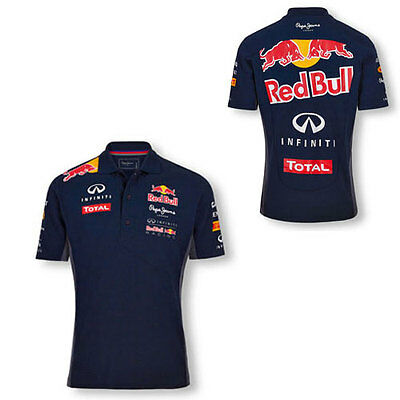 Infiniti Red Bull Racing Mens Team Polo Navy Formula 1 Size Xl Only