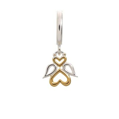 Charm Endless Angel Dream Drop Sterling Silver Gold Plated