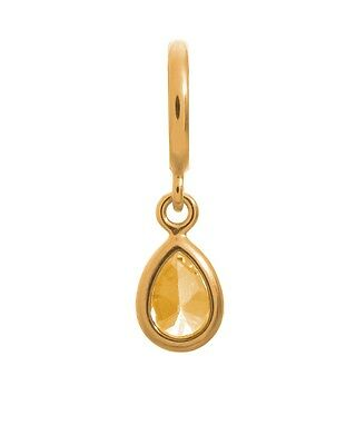 Charm Endless Citrine Drop Gold Sterling Silver Gold Plated