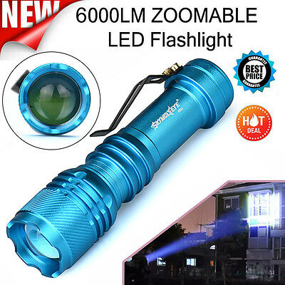 6000LM CREE Q5 AA/14500 3 Modes ZOOMABLE LED Flashlight Super Bright Torch Light