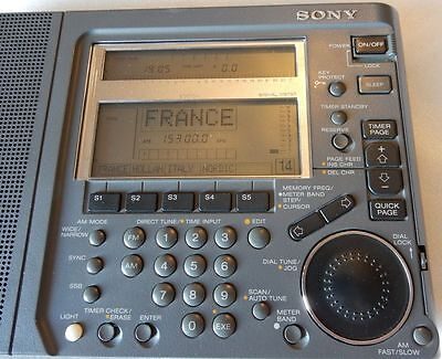 SONY Portable Shortwave Radio Receiver with AM and FM Stereo, ICF-SW77