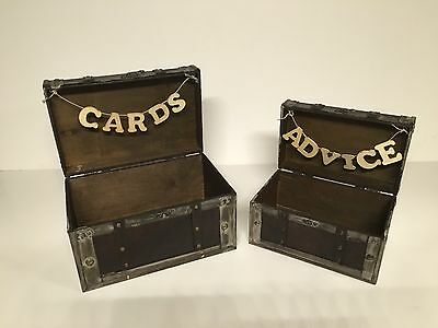 Rustic Wedding Card and Advice Boxes - Etsy