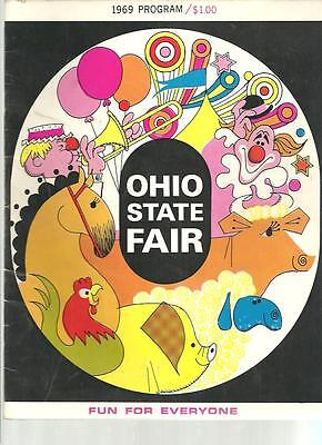 ww - Vintage 1969 OHIO STATE FAIR PROGRAM - with Hurricane Hell Drivers