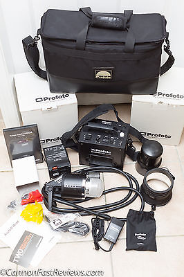 NEAR MINT Profoto AcuteB2 600 AirS LiFe Battery AcuteB Head A1 Charger FULL KIT