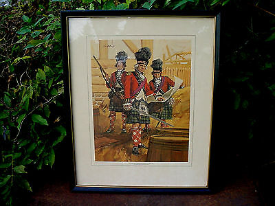 A1 Cool Old 42nd Royal Highland Regiment Of Foot 1782 Black Watch Soldier Print