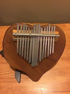 Thumb Piano Mbira Iron Keys Wood South African Art
