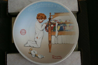 "1990 Norman Rockwell ""A Christmas Prayer"" Collector Plate"