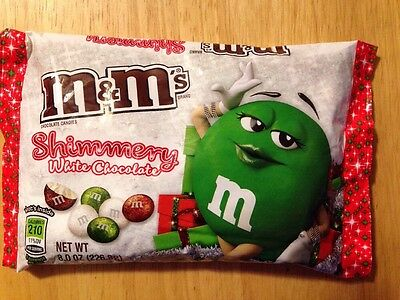 M&M's NEW Shimmery Shimmering White Chocolate Candy 8.0 oz Christmas 2016