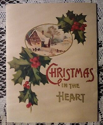 Attractive CHRISTMAS In The HEART, Vintage Booklet