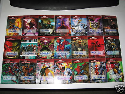 2008 Marvel Masterpieces 3 WRITER AUTOGRAPH SET SINGLES: at $30 per Card