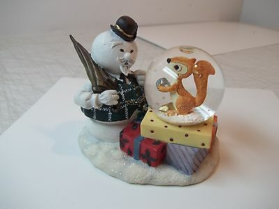 Nib 1999 Rudolph & The Island Of Misfit Toys Sam Looking At Squirrel Snow Globe