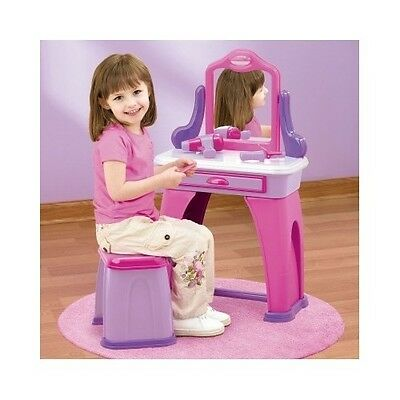 Vanity Set For Girls Table Vanities Kids Toddler Play Toy Birthday Christmas Gif