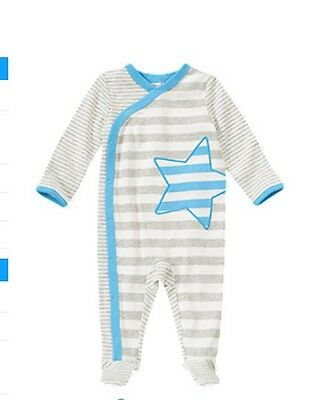 NWT Gymboree Baby Boy Striped Star Footed One-Piece--Size 3-6 Months