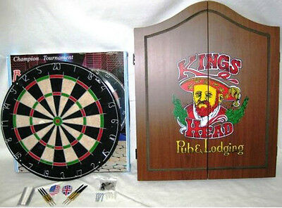 Dart Board & Wood Cabinet Complete Set Brand New in Box!