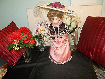 "Reproduction French Doll *katherine* 16"" Fine Bisque Collectors Porcelain Doll."