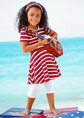 Kidoki Dress, Leggings & Hair Band For Girls Euro Size 116/122 Age 6-7 Box6600 D