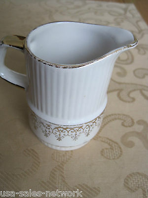 Gibson's Staffordshire Fine China Creamer Made In England, Gold Trim