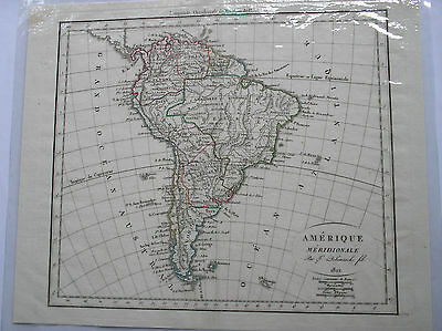 British Guiana , 1833 Delamarche South American map.