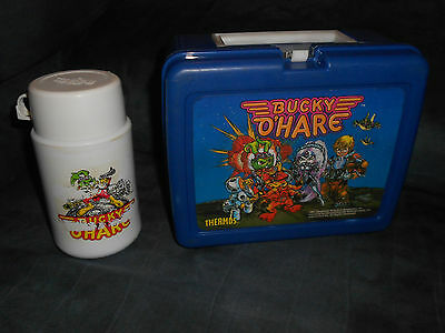 RARE BUCKY O'HARE PLASTIC LUNCHBOX with THERMOS 1991 VINTAGE HARD TO FIND