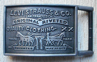 Square Levi Strauss Belt Buckle Silver Color USA