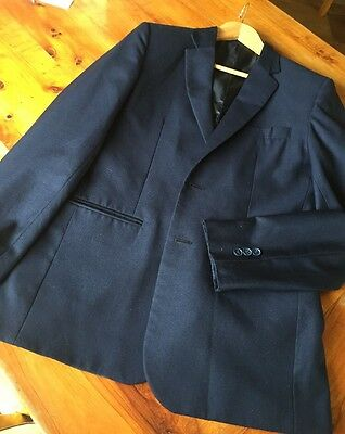 Men's Custom Made Black Suit Small Fit