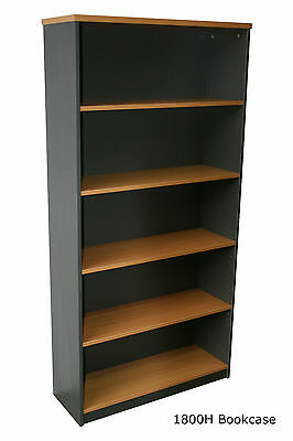 Office Bookcases - 900H, 1200H, 1500H or 1800 HIGH